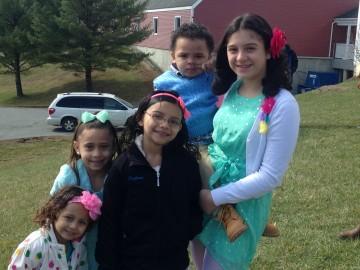 One of the many families who attended the Easter Egg Hunt!