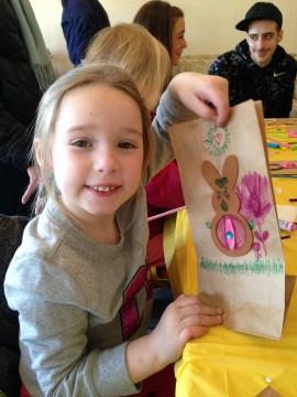 Haley is very proud of her bunny!